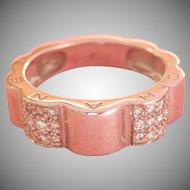 18K W/Gold Diamond CHANEL Profil de Camellia Ring