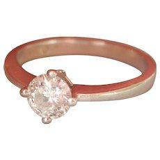 Final Markdown! English Vintage 0.50 ct. Diamond Solitaire Platinum Ring