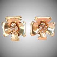 Final Markdown! 14K Gold Rose-Cut Diamond Earrings