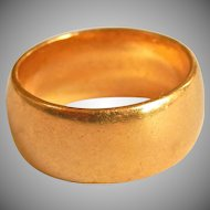 Heavy 22K Yellow Gold Wedding Band Ring