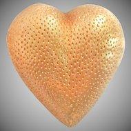 Vintage Tiffany & Co. Italy 18K Puffy Heart Pin Brooch
