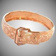 Vintage Gold-filled Bliss Bros. Engraved Buckle Bracelet