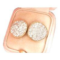 18K Gold Pleve Large Ice Pebble 1.80 ct. Diamond Earrings