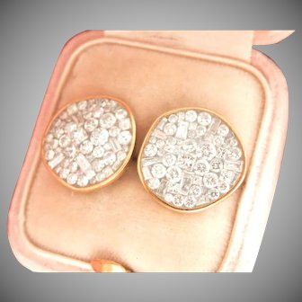 18K Gold Plevé Ice Pebble 1.80 ct. Diamond Earrings