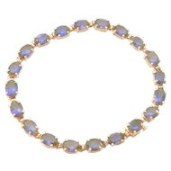 14K Gold 9.6 ct. Tanzanite Link Bracelet