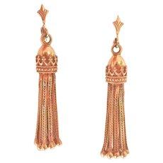 Vintage 14K Gold Tassel Earrings