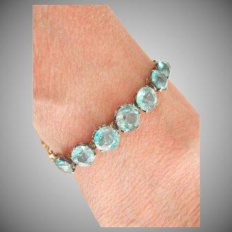 Stunning 14.43 Ct. Blue Zircon 9K 9CT Antique Bracelet