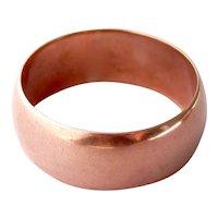 Lovely Edwardian Wide 9CT 9K Rose Gold Band Ring