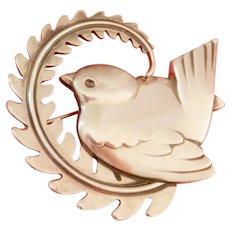 Georg Jensen Vintage Silver Bird Pin #309
