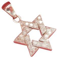 H. Stern 18K Gold Diamond Star of David Pendant