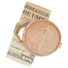 American 2003 Silver Eagle Walking Liberty Coin Money Clip