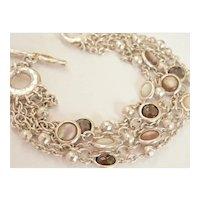 Ippolita 5-Strand Gemstone Heavy Silver Toggle Bracelet