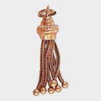 Splendid 9CT 9K Victorian Tassel Fob Pendant or Charm