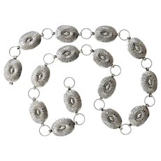 Vintage Navajo Hand-Stamped Silver Concho Belt~Jennifer Blackstone~