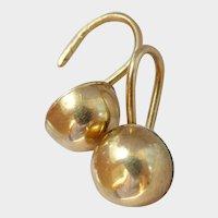 Lovely Victorian 9CT 9K Gold Domed Earrings