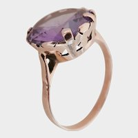 Antique 14K Rose Gold Synthetic Colour-Change Sapphire Ring