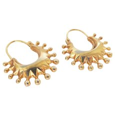 Lovely 9ct 9k UNO-A-ERRE Vintage Creole Earrings