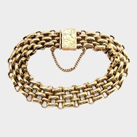 Victorian Silver Gilt Aesthetic Link Bracelet~16.8 grams