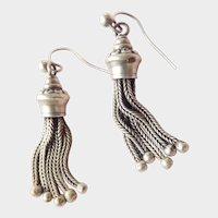 Super Antique Sterling Silver Tassel Earrings