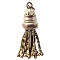Victorian 9ct 9k Rose & Yellow Gold Tassel Fob Pendant