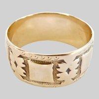 Antique 10K Gold J.R. Woods & Sons Antique Band Ring