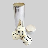 Fine Sterling Gaming Dice with Case, Birmingham, England