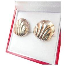 Terrific Vintage Silver William Spratling Earrings Mexico