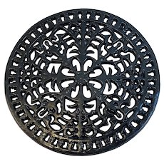 Black Cast Iron Trivet Vintage Footed Kitchen
