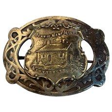 Jennie Wade House Victorian Era Souvenir Metal Pin Gettysburg PA Civilian Killed During the Civil War