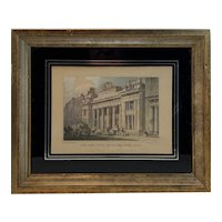 The New Corn Exchange, Mark Lane London Hand Colored Engraving