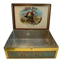 Ben Bey Cigar Tin Circa 1922 Factory 44 Louisiana