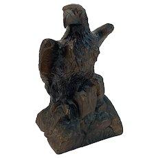 Cast Metal Bronze Finish Eagle Bank