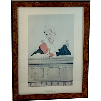 Ermined Urbanity a Caricature of Sir Arthur Richard Jeff by Sir Leslie Ward