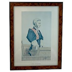 Smith's Leading Cases a Caricature of Sir Richard Henn Collins by Sir John Paget Mellor