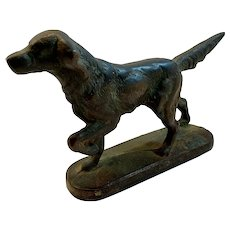 English Sitter on Point Bird Dog Cast Iron Doorstop