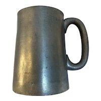 Victorian Pewter Tankard Mug VR 1/2 Half Pint Size Victoria Regina English England