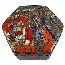 Heinrich Villeroy & Boch Russian Fairy Tales Trinket Box Boris Zvorykin Maria Morevna & Ivan West Germany Original Box