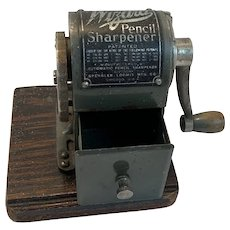 Wizard Pencil Sharpener on Wood Base