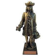 William Penn Award Bronzed Statue Vintage Philadelphia Chamber of Commerce City Hall