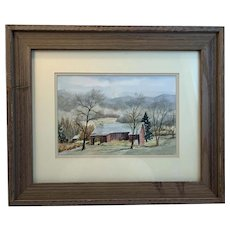 Foothill Barn Original Watercolor by Betty Holladay Hagerstown Maryland Artist