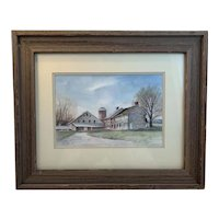 Shimpstown Road, Pennsylvania Original Watercolor by Betty Holladay Hagerstown Maryland Artist