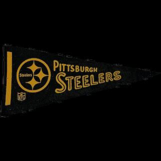 Vintage 1970s Felt Pittsburgh Steelers Football Pennant