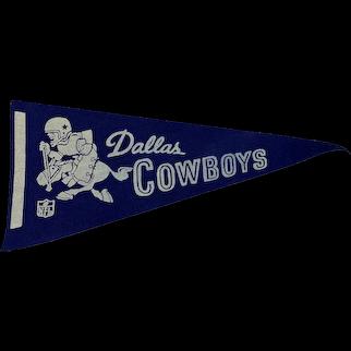 Vintage 1970s Felt Dallas Cowboys Football Pennant