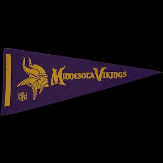 Vintage 1970s Felt Minnesota Vikings Football Pennant