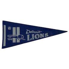 Vintage 1970s Felt Detroit Lions Football Pennant