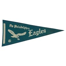 Vintage 1970s Felt Philadelphia Eagles Football Pennant