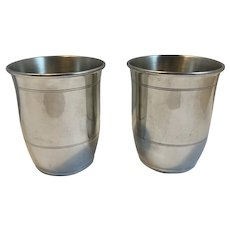 2 Salisbury Pewter Chesapeake Bay Cups Mint Julep Cups Hand Crafted CBF Numbered Limited Edition 628 of 5000
