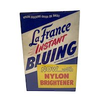 1955 LaFrance Instant Bluing 6 ounce Box Sealed with Contents Laundry Advertising La France