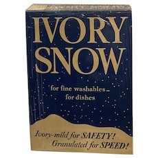 Ivory Snow Detergent 12.5 ounce Box Sealed with Contents Laundry Advertising Procter & Gamble