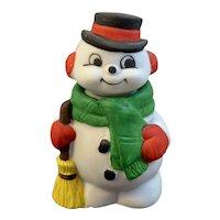 Jasco Snowman Salt and Pepper Shaker Set Vintage Christmas